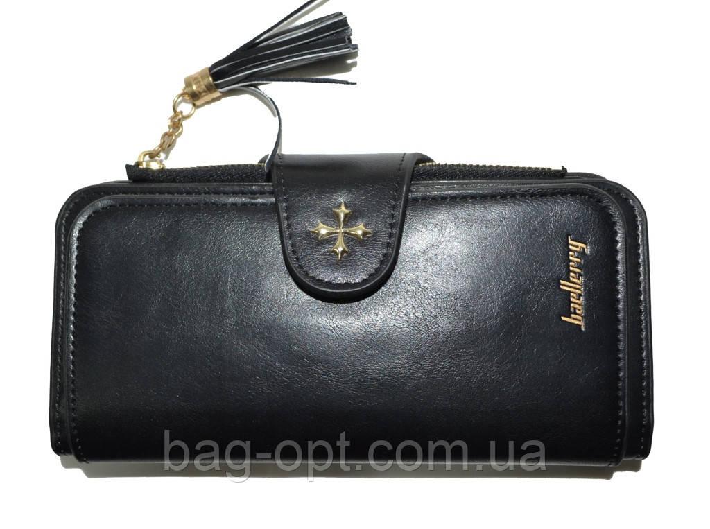 Женский кошелек клатч Baellerry Clover (19x9x2,5 см) черный