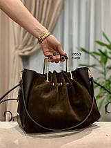 Красива замшева сумка з клатчем, фото 3