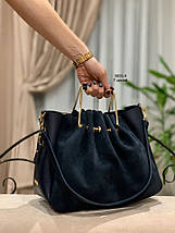 Красива замшева сумка з клатчем, фото 2