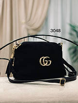 Маленька чорна сумка через плече, фото 3