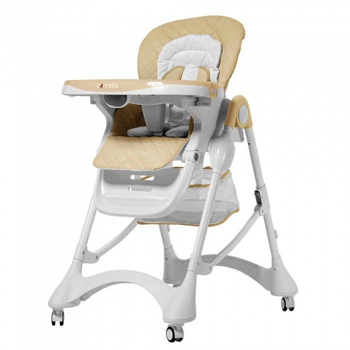 Стульчик детский для кормления ребенка со съемным столиком, CARRELLO Caramel CRL-9501/3 Desert Beige, бежевый