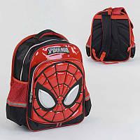 Рюкзак школьный ортопедический от 6 лет, Человек-Паук 3D принт, 2 отделения, 2 кармана, 35×25×45 см