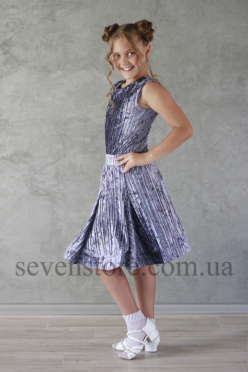 Рейтингове плаття Бейсік для бальних танців Sevenstore 9146 Сірий