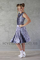 Рейтинговое платье Бейсик для бальных танцев Sevenstore 9146 Серый