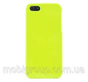 Чехол силиконовый плотный матовый для iPhone 6S/6, салатовый