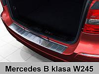 Нержавеющая защитная накладка на задний бампер Mercedes-Benz W245