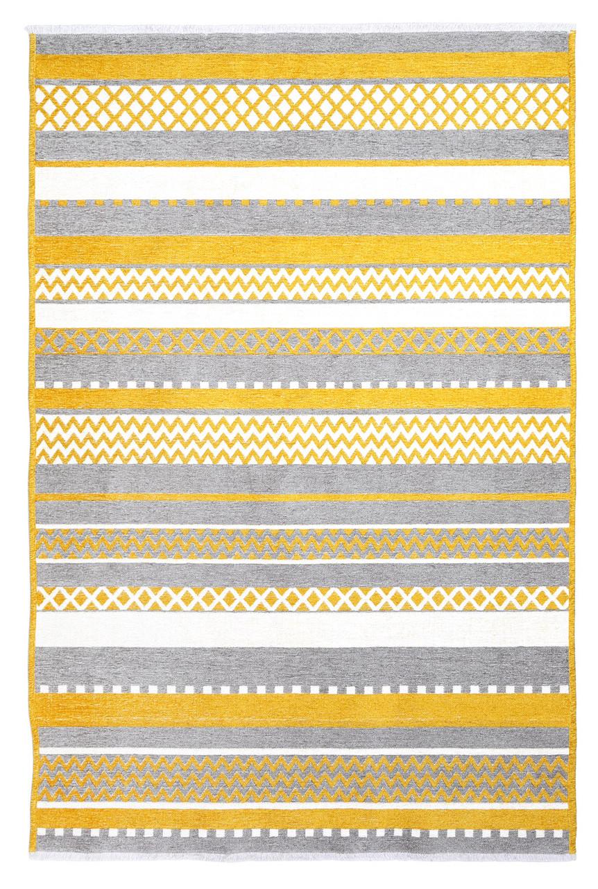 Ковер Moretti Turin двусторонний желтый серый