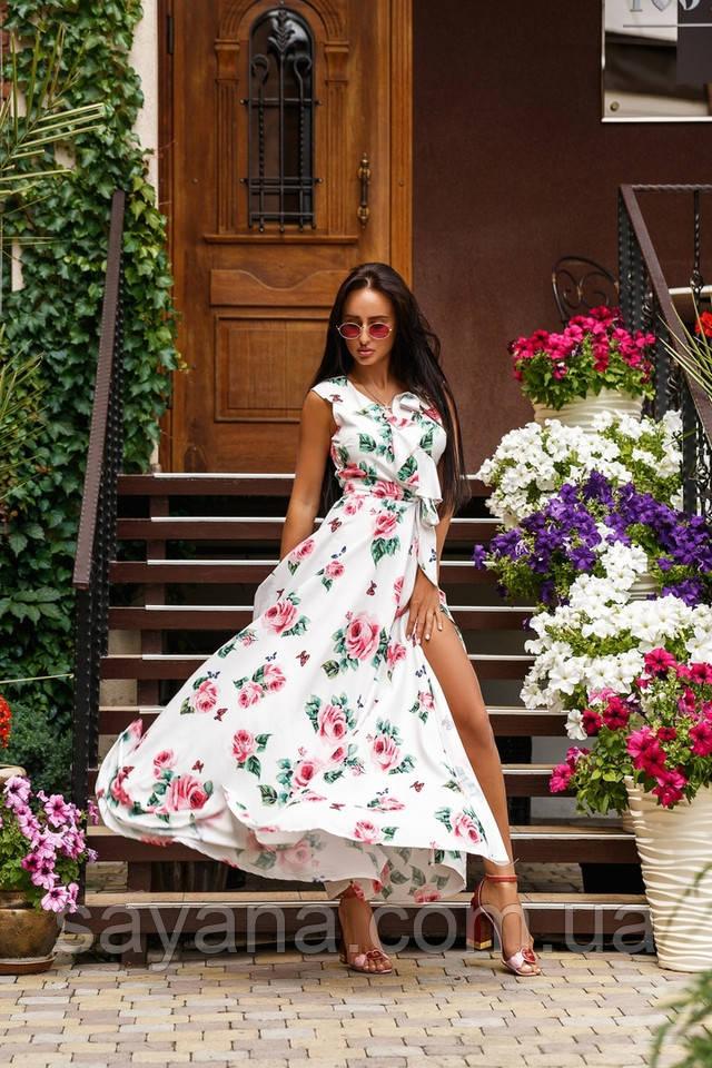 женское платье с цветами