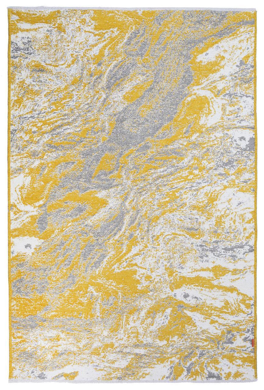 Ковер Moretti Turin двусторонний желтый серый мрамор