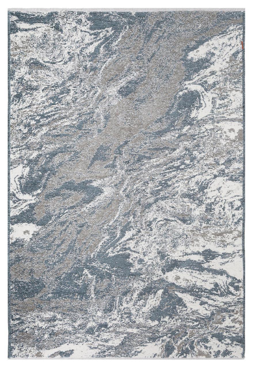Ковер Moretti Turin двусторонний серый голубой мрамор