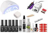 Стартовый набор Kodi Professional для покрытия гель-лаком + Лампа SunOne 48 W + Фрезер Lina 20000 об.