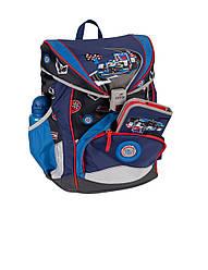 Ранец школьный ортопедический облегченный с наполнением 5 предметов Гонки DerDieDas Racing 8405094
