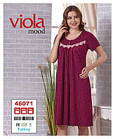 """Бордовая ночная сорочка """"Viola"""" 3XL-5XL"""