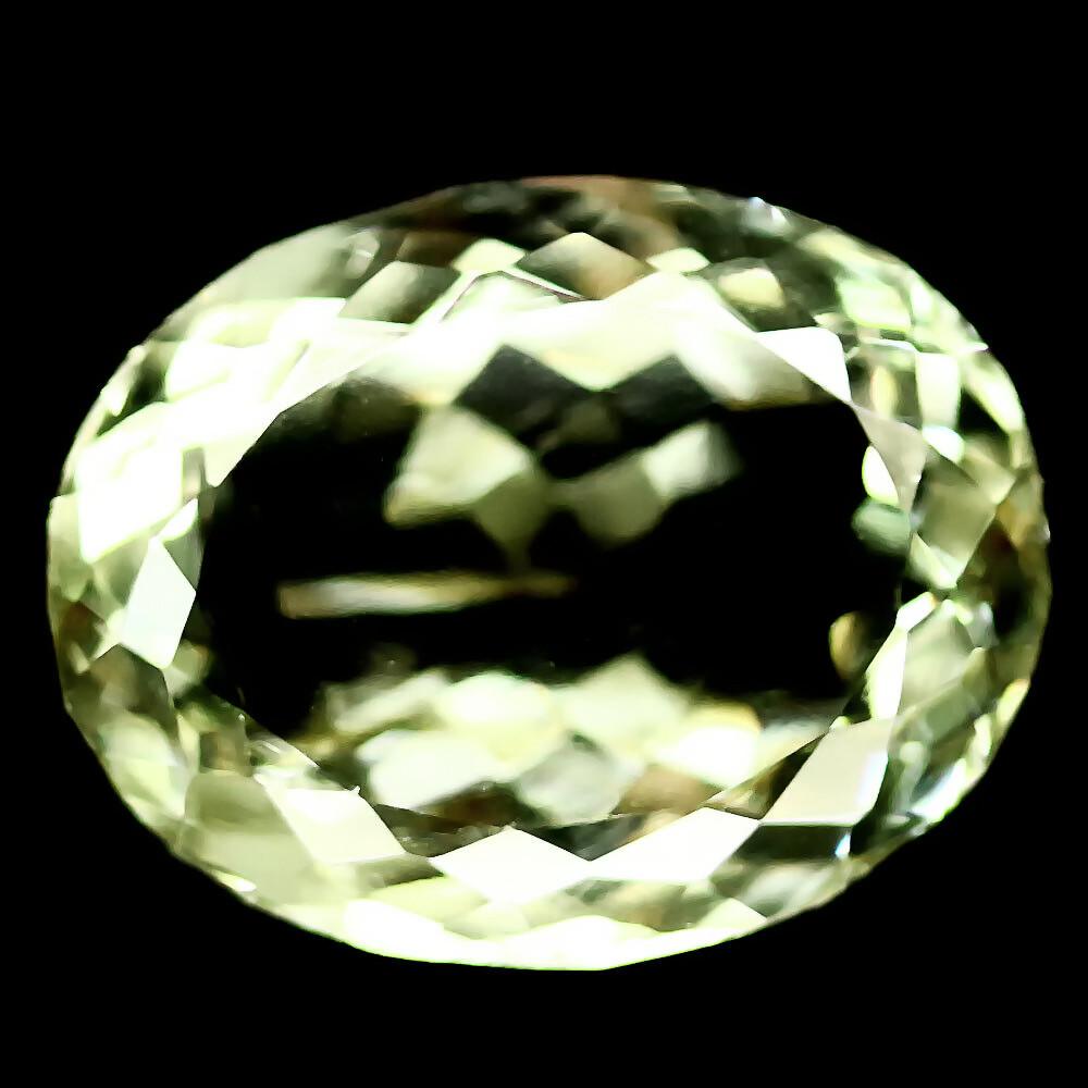 Кабошон зеленый аметист, 15,6*12,2 мм., 9,93 карат, 505КБА