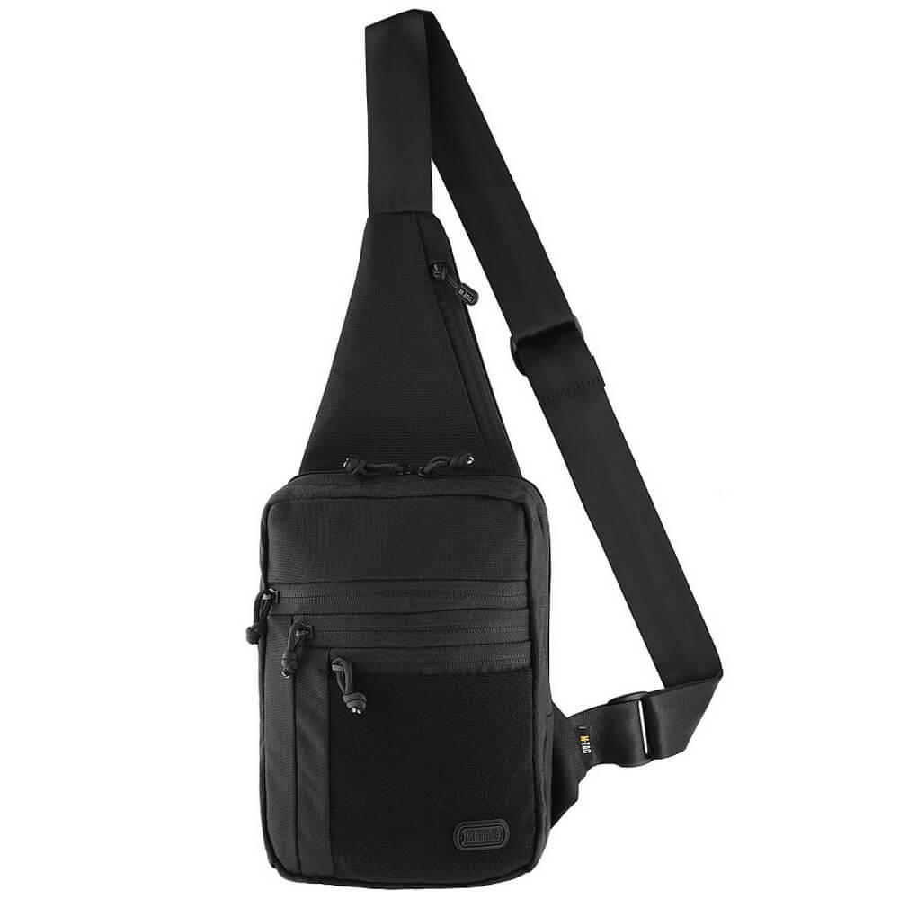 M-Tac сумка-кобура наплечная Elite Gen.IV с липучкой черная