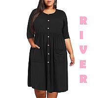 Комфортное женское повседневное платье большого размера с 48 по 98