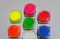 Набор Флуоресцентные пигменты красители для геля, акрила, дизайнов 5 мл.7шт светятся в ультрафиолете, фото 1
