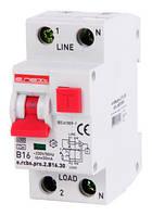 Выкл дифф тока с функцией защиты от сверхтоков e.rcbo.pro.2.B16.30, 1P+N, 16А, B, тип А, 30мА ENEXT [p0720006]