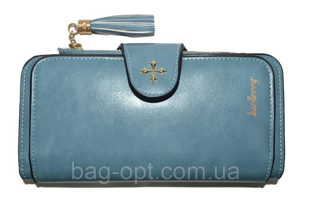Женский кошелек клатч Baellerry Clover (19x9x2,5 см) синий