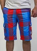 Мужские летние шорты в клеточку