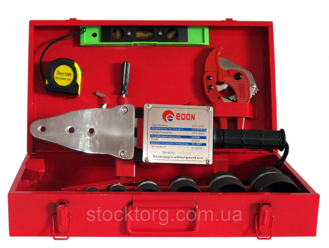 Паяльник для пластикових труб EDON EDP-2000T мелалліческій кейс
