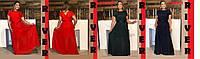 Вечернее женское платье в пол большого размера из шифона с 48 по 98