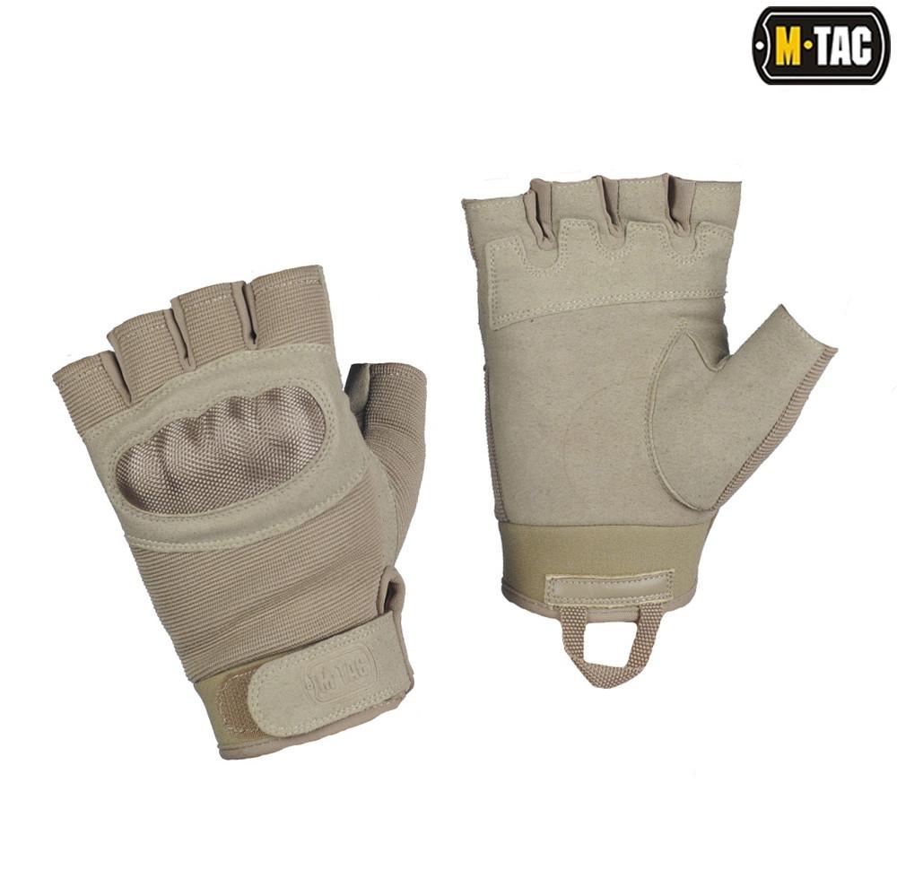 M-Tac перчатки тактические беспалые Assault Tactical Mk.3 хаки