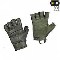 M-Tac перчатки тактические беспалые кожаные Assault Tactical Mk.1 олива, фото 1