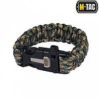 M-Tac браслет-паракорд с искровысекателем, компасом и свистком olive / tan, фото 1