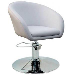 Кресло парикмахерское Мурат P,  экокожа, цвет белый