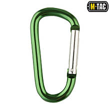 M-Tac карабин алюминиевый 80 мм зеленый