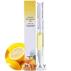 Масло для кутикулы увлажняющее в стике Lemon Oil (лимон), фото 2