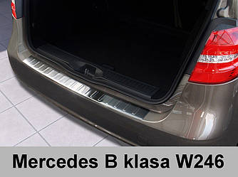 Нержавеющая защитная накладка на задний бампер  Mercedes-Benz W246