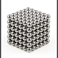 Неокуб 216 магнитных шариков 5мм (серый)