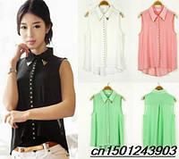 Эффектная блузка-футболка 4 цвета