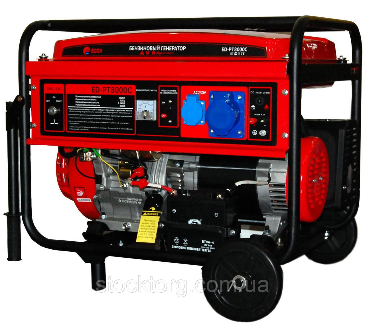Генератор бензиновый Edon PT 8000C