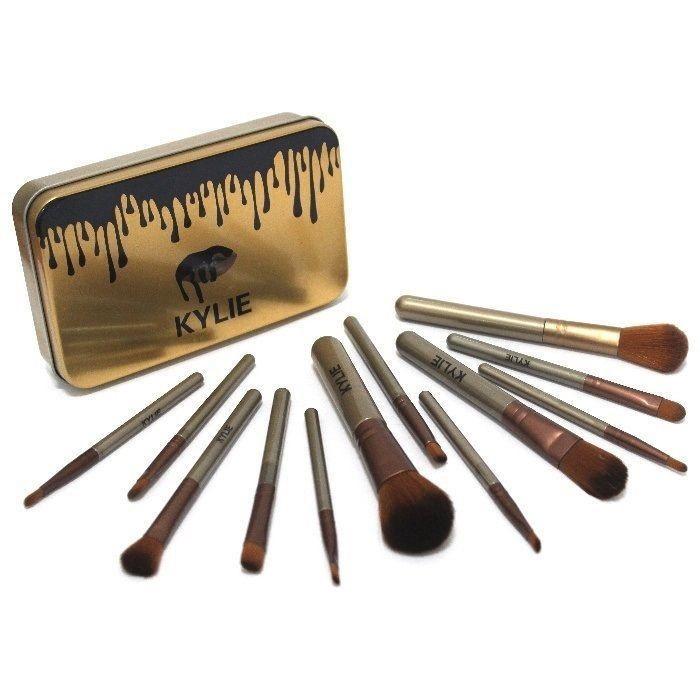 Набор кистей для макияжа    Набір пензлів для макіяжу Kylie professional brush set 12 в 1 ( Реплика)