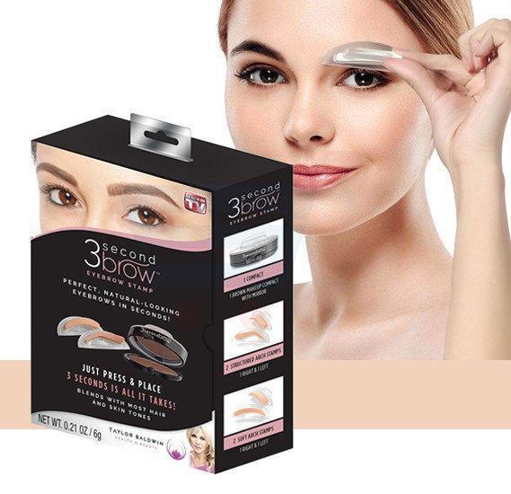 Штамп пудра для бровей / Набір штампів для брів Eyebrow Beauty Stamp /  3 Second Brow eyebrow stamp