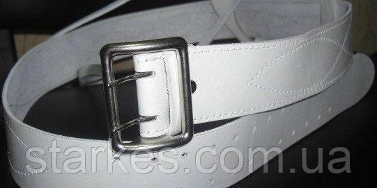 Ремни кожаные офицерские белые, от 30 штук, 90 см и др