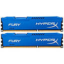 "Память Kingston 8GB (2x4GB) 1866MHz HyperX FURY  DDR3 (HX318C10FK2/8) ""Over-Stock"" Б/У, фото 2"