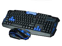 Комплект беспроводная клавиатура + мышка | Комплект бездротова клавіатура + мишка HK-8100, фото 1