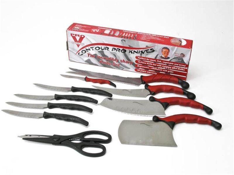 Набор кухонных ножей |  Набір кухонних ножів Contour Pro