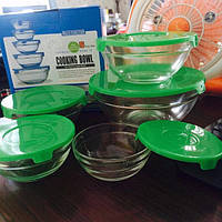 Набор стеклянных судочков | Набір судочками з стекломатеріала 5 шт. Сooking bowl
