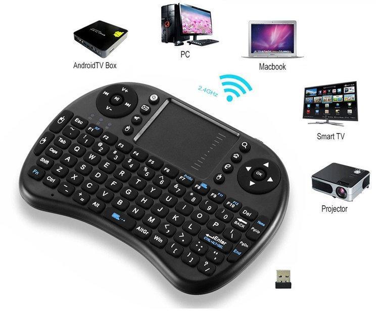Мини беспроводная клавиатура с тачпадом | Міні бездротова клавіатура з тачпадом WIRELESS MWK08/I8 + TOUCH