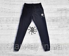 Черные спортивные штаны Huf | go green logo
