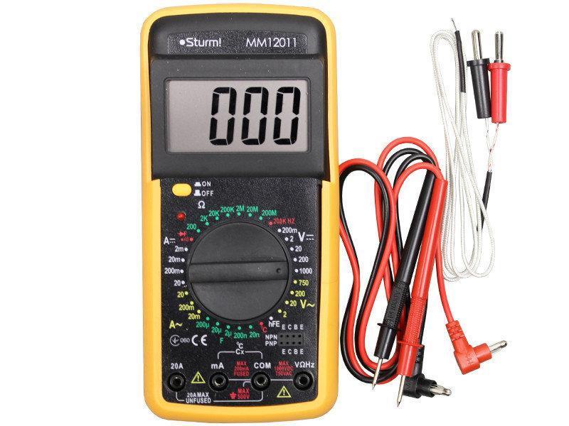 Мультиметр цифровой (тестер) STURM MM12011