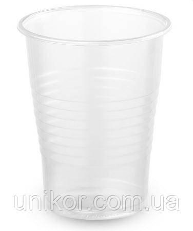 Стаканы одноразовые 200 мл. 100 шт./уп., термостойкий, прозрачный. Украина