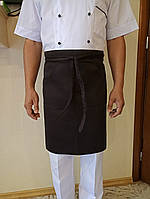 Поварской фартук коричневый. Ткань: саржа.