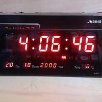 Электронные светодиодные настенные часы LED NUMBER CLOCK 3615 RED, фото 1