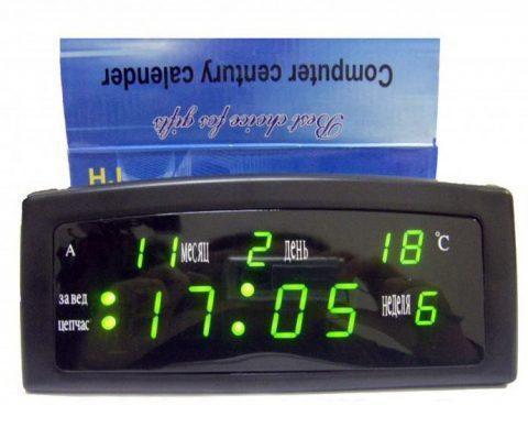 Часы цифровые настольные CAIXING CX 909 GREEN